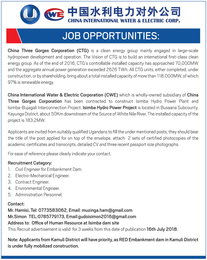Jobs openings with CWE | Ugashare com