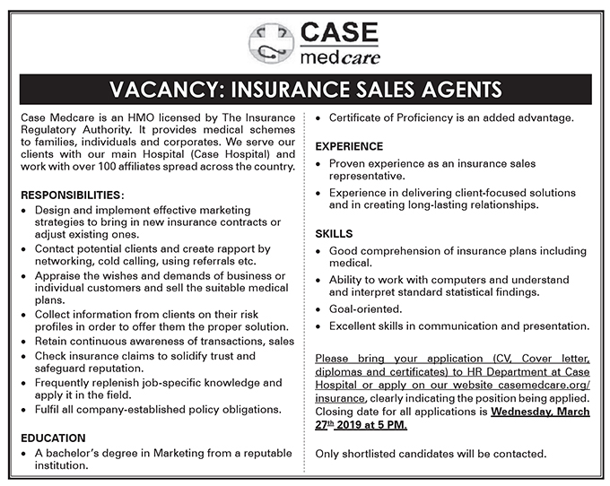 Insurance Sales Agents needed - New Vision Jobs - Jobs in ...