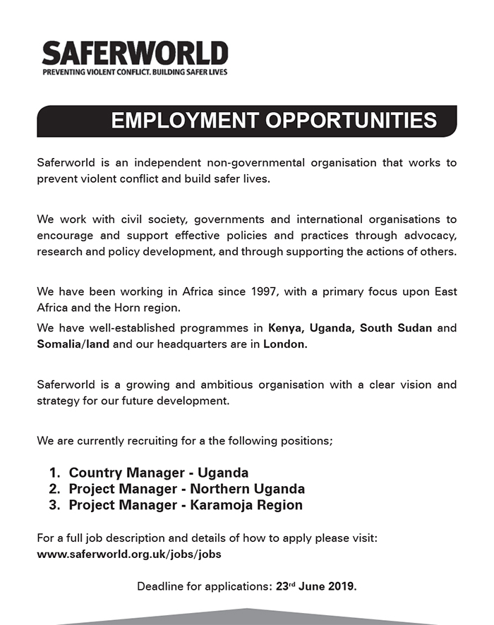 Project and Country managers needed respectively - New