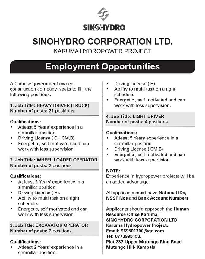Drivers, Excavator Operators needed - New Vision Jobs - Jobs