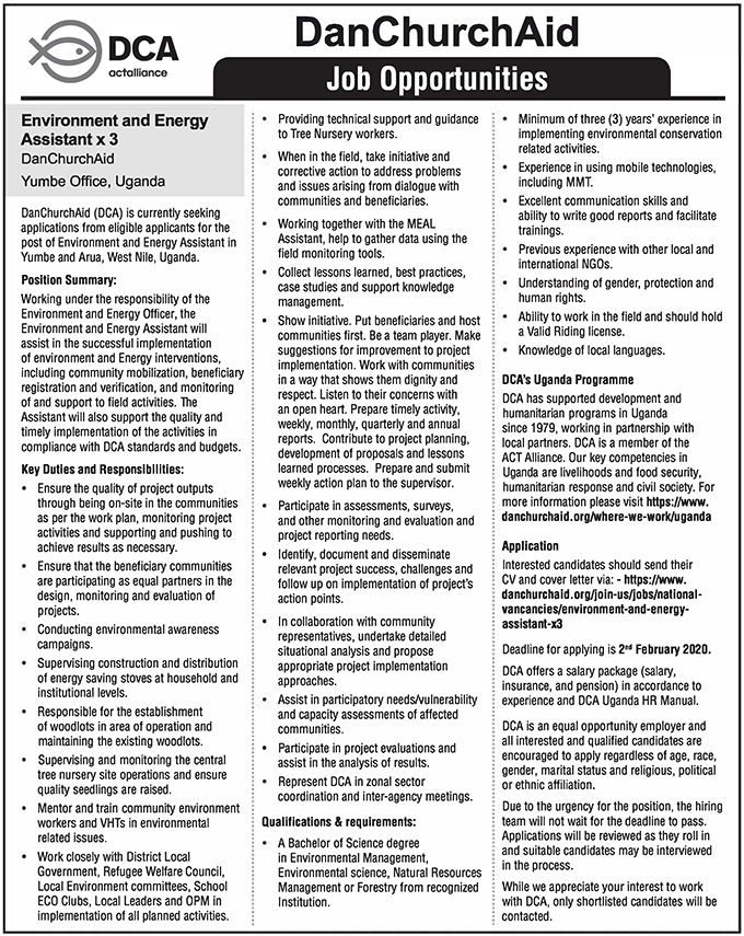 Environment and Energy Assistant x 3 - New Vision Jobs ...